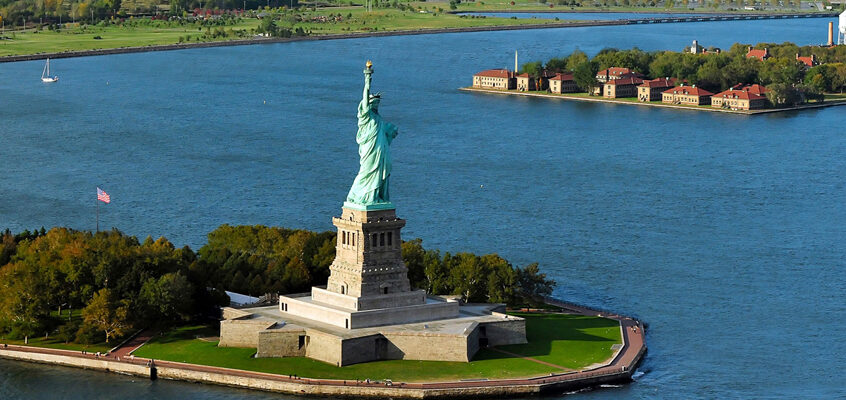 Ellis Island, and The Statue of Liberty